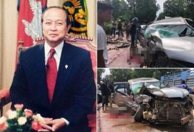 柬埔寨诺罗敦·拉那烈亲王受重伤。(网络图)