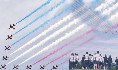 英国空军给英格兰队霸气壮言。