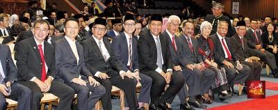 槟州新届行政议员宣誓就职仪式。