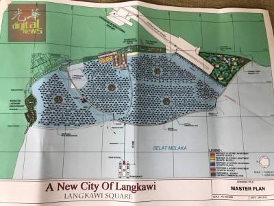 """""""浮罗交怡新城市计划""""(A New City Of Langkawi)蓝图。"""