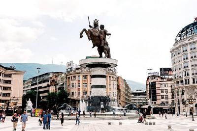 希腊人以亚历山大大帝为荣。(法新社照片)