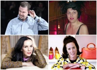 左上及下为Alexander McQueen及L'Wren Scott;右上及下为Isabella Blow和Kate Spade。