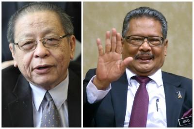 林吉祥(左)指责阿班迪严重失职,质问何时辞职取回尊严。