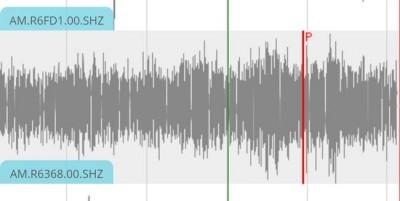 墨西哥地震预警监控系统所发布的地震数据。(网络图)