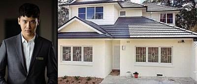 高云翔目前月付约1.8万令吉在澳洲出租别墅居住。