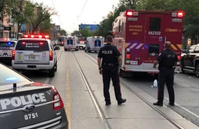 多伦多警方在发生枪击案的娱乐区调查。