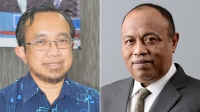 (左)阿兹曼证实依斯迈通过公正党波各仙那区部提呈入党表格。(右)依斯迈:选择加入吉打公正党,是因为不见得有很多党争。
