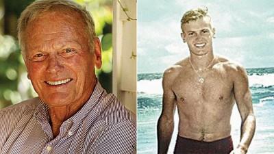塔亨特是50年代美国好莱坞一代巨星。(右)年轻时的塔亨特。