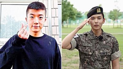 """(左)韩国男团2PM的积极分子佑荣。(右)""""Super Junior""""(SJ)成员厉旭。"""