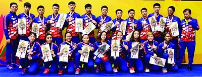 大马青年羽球队赢得铜牌。