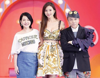 小S(左起)、林志玲和蔡康永。