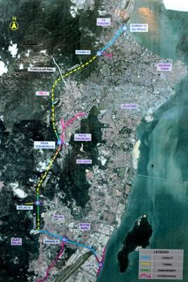第一泛岛大道,从新关仔角到槟国际机场一带,全长9.5公里。