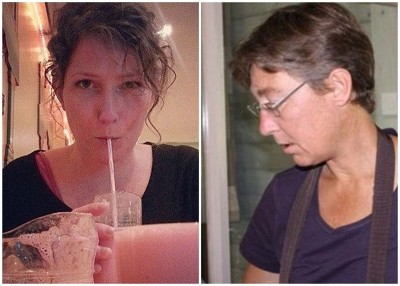 沃特斯(右图)在手术期间走去饮酒,累死接受剖腹分娩的霍克(左图)