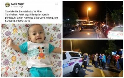 男婴失踪后,莫哈末苏费在脸书贴文要求民众助寻爱儿。