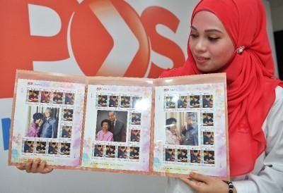 """""""Setem Ku""""限量版纪念邮票每套呈3种不同设计,每张邮票面值是60仙。"""