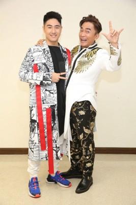 吴宗宪(右)周六晚开唱,也是儿子鹿希派的出道日。
