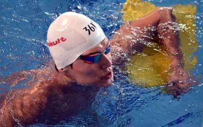 中国泳将孙杨在中长距离或会面对日本竹田涉瑚的竞争。