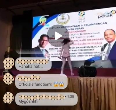 社交媒体流传服装选美赛串插女歌手性感表演的视频,霹大臣已否认他本人及州政府机构涉及此项活动。