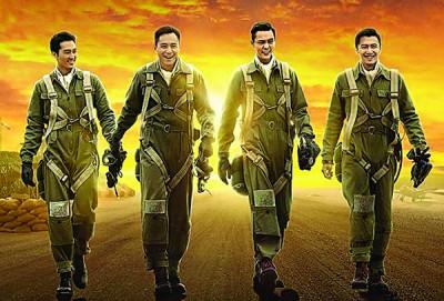 《大轰炸》因为重庆大轰炸为故事背景,主角包括宋承宪(左起)、刘烨、陈伟霆与谢霆锋,2015年已拍了。