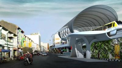 耗资460亿令吉的槟州交通大蓝图计划是主打解决严重的交通阻塞问题,计划中包括兴建轻快铁及单轨火车(档案照)