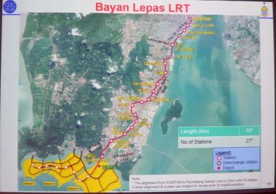 从光大至峇六拜的第一条轻快铁计划全长30公里,建有27个车站。(档案照)