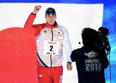 日本蛙王渡边一平在刚刚落幕的泛太平洋游泳锦标赛中有优异表现。