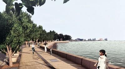 """""""旧关仔角海堤修复及提升计划""""在完工后,将会提供行人一个更为安全及舒适的公共空间。"""