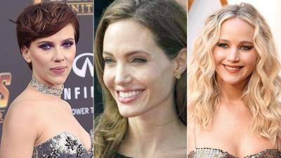 (左起)史考莉乔韩森海成为好莱坞今年最会赚钱的女星,安祖莲娜祖莉吧亚军,珍妮花劳伦斯虽排名第4。
