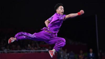 中国选手孙培原获得男子长拳冠军。