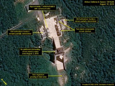 """西海卫星发射场图像呈现,自本月3日以来,这处场天的动员机测试台或发射台""""皆无明显的裝卸流动""""。"""