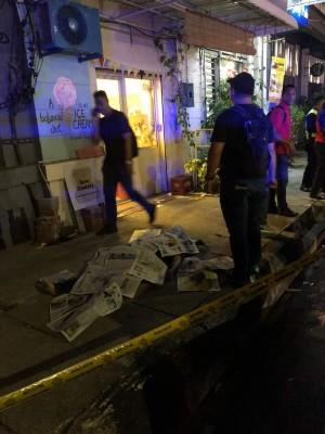 第二宗于周六晚10时许发生在海墘的柴路頭的命案,是一名泰國男子疑與人爭吵后遭人以利刀刺死。