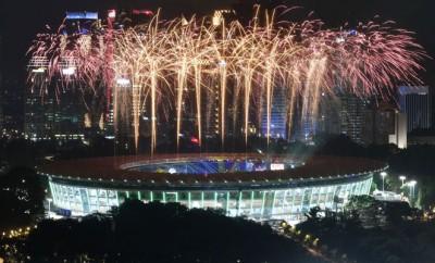 印尼亚运会正式揭幕。