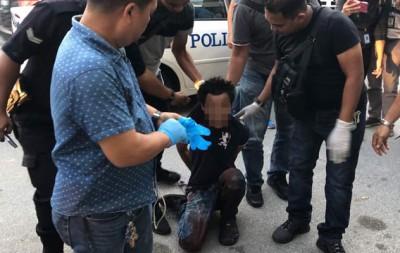 警方在现场已逮捕一名28岁缅甸籍男子助查。