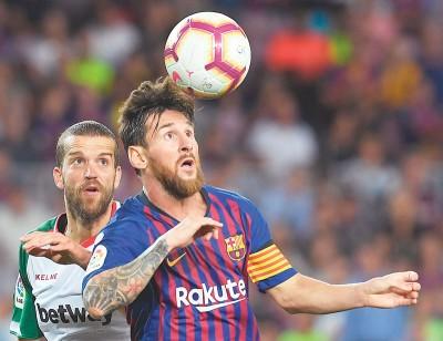 梅西救助球队连续10年联赛开门红。