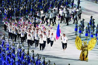 克拉克森做了菲律宾代表团的旗手。