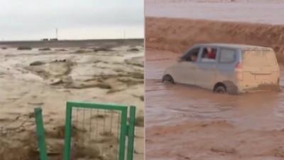 新疆连续暴雨灾害。
