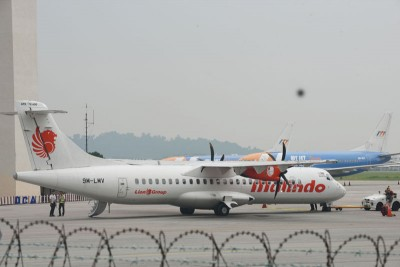 槟城国际机场周一上午似有一层薄雾笼罩。