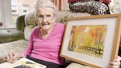 麦克尼尔凭记忆和触觉,画出超过350幅美丽图画。