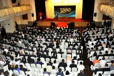 """不同单位的代表都受邀出席""""槟城2030""""揭幕礼。"""