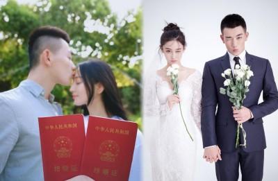 张馨予宣布和武警何捷结婚。