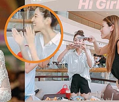 本月12日将结婚的陈凯琳终于现身,替好姐妹庆生。