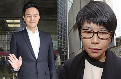 张智霖眼前经纪人梁雅诗(右),随便修改他合约,抢占365万元台币。