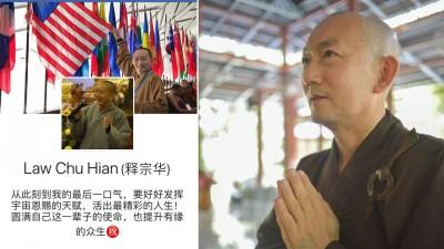 他出家夙愿是弘法利生,在这一年内都忙着在全国各地弘法。