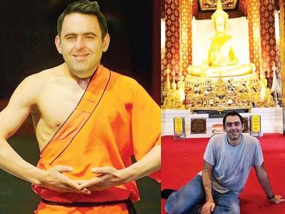 """英国斯诺克将军、""""火箭""""奥沙利文新近经推特宣布,团结将过去泰国与本地的僧侣们一道在3只月!"""