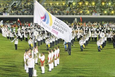 亚太区大师运动会进行升旗仪式。