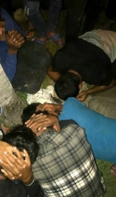其中5名非法入境者被捕。(照片取自社交媒体)
