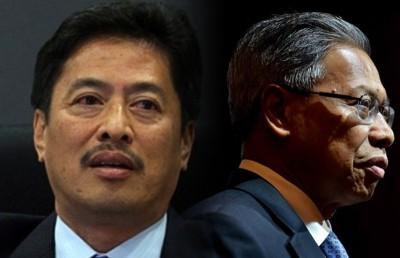 反贪会否认传召慕斯达法(左),阿占巴基:电台报导不属实。