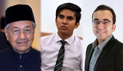 (左)敦马哈迪。(中)赛沙迪是青体部长,也是土团党青年团团长。(右)拉菲克是马六甲行政议员,亦是土团党最高理事。