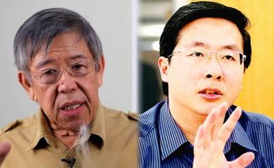 (左)何启斌:安华会胜,而且大胜。(右)潘永强:伊党领导人比巫统聪明。
