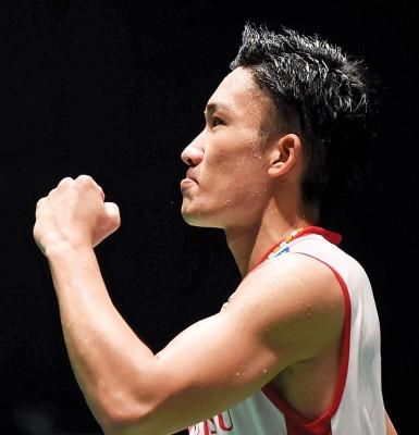 晋级男单16强的种子球员还包括日本一哥桃田贤斗。